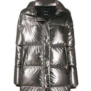 Herno Silver Metallic Lamineer Jacket - Size 38